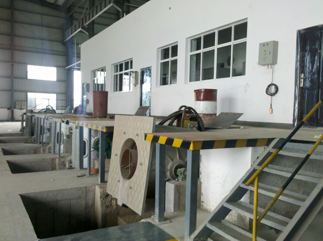 Two intermediate frequency coreless induction melting furnace