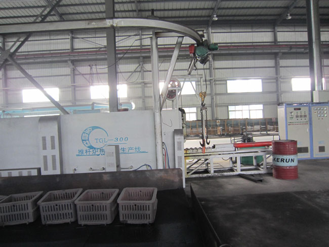 The two Fully automatic pusher furnace heat treatment production line